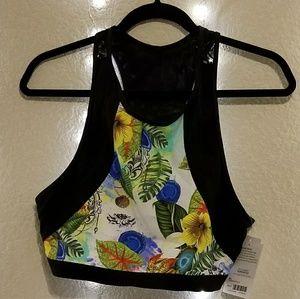 Athleta Streamline Bikini Floral Print
